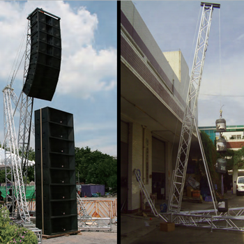 Aluminum Truss Portable Speaker Tower , line array sound system