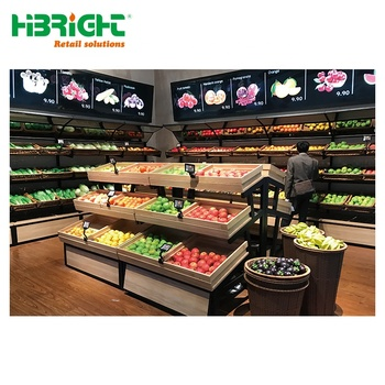 supermarket display fruit rack design and vegetable stands for sale