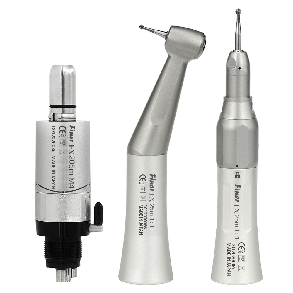 dental low speed handpiece set air motor contra angle straight handpiece fx205