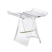 modern acrylic <strong>furniture</strong> butterfly stool bench for home perspex bar vanity stool with support