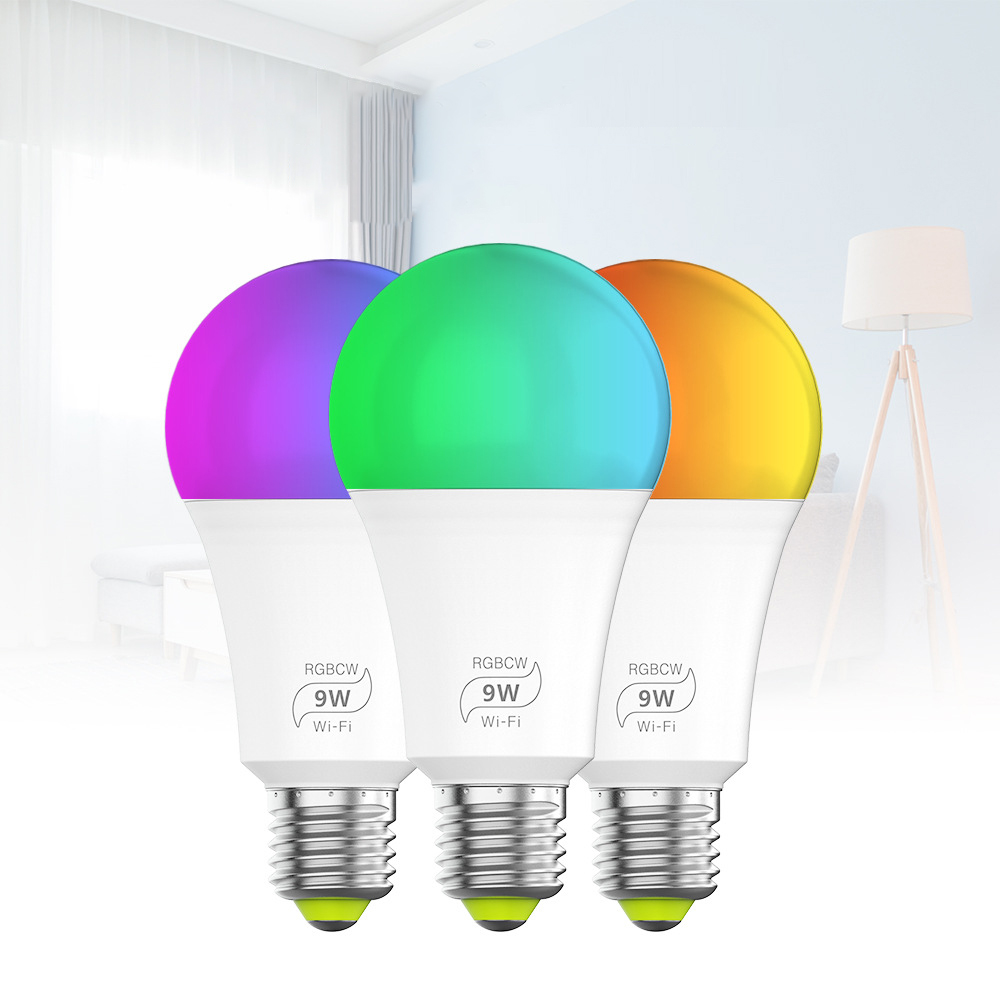 9W E27 Wifi Smart LED Lights for Smart Home