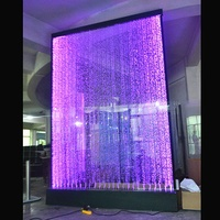 room divider water bubble panel acrylic led water dancing wall panel