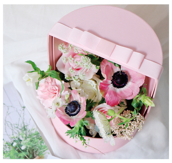 Roses Bouquet Flower Gift Cardboard Paper Velvet Boxes Packaging Luxury Box For Flowers