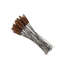 Eco Friendly Stainless Steel Brown Coconut Fiber Cleaning <strong>Brush</strong> Straw <strong>Brush</strong> Cleaner