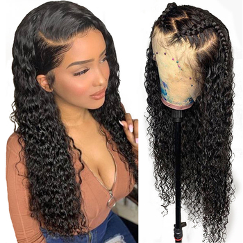 Wholesale Raw Indian Virgin Hair HD Lace Frontal Wig Women Curly Wig Full Swiss Lace Front Closure Human Hair Wig Kinky Curly