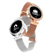 <strong>x10</strong> metal 0.66 inch circle screen smart watch android women ladies Smart Bracelet