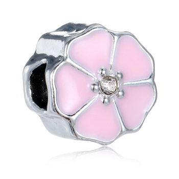 New Design  Loose Charm Beads for Charm Bracelets Hot Selling Pink  Lampwork Spacer Beads for Jewelry Making