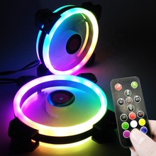 coolmoon <strong>RGB</strong> FAN 120mm PC Computer cooling fan <strong>rgb</strong> with RF Remote Control Speed led case fan Factory Price