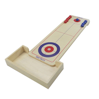 Sports wooden Shuffleboard Table Game - Indoor or Outdoor Shuffleboard Mat for Kids and Adult