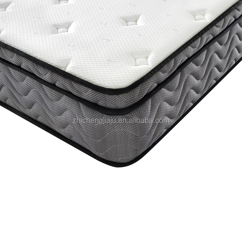 Supplier 3D breathable fabric customized comfort Individual wrapped spring foam Euro top mattress - Jozy Mattress | Jozy.net