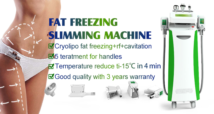 New arrival CE / FDA approved 5 cryo handles fat freeze weight loss slimming cryolipolyse machine