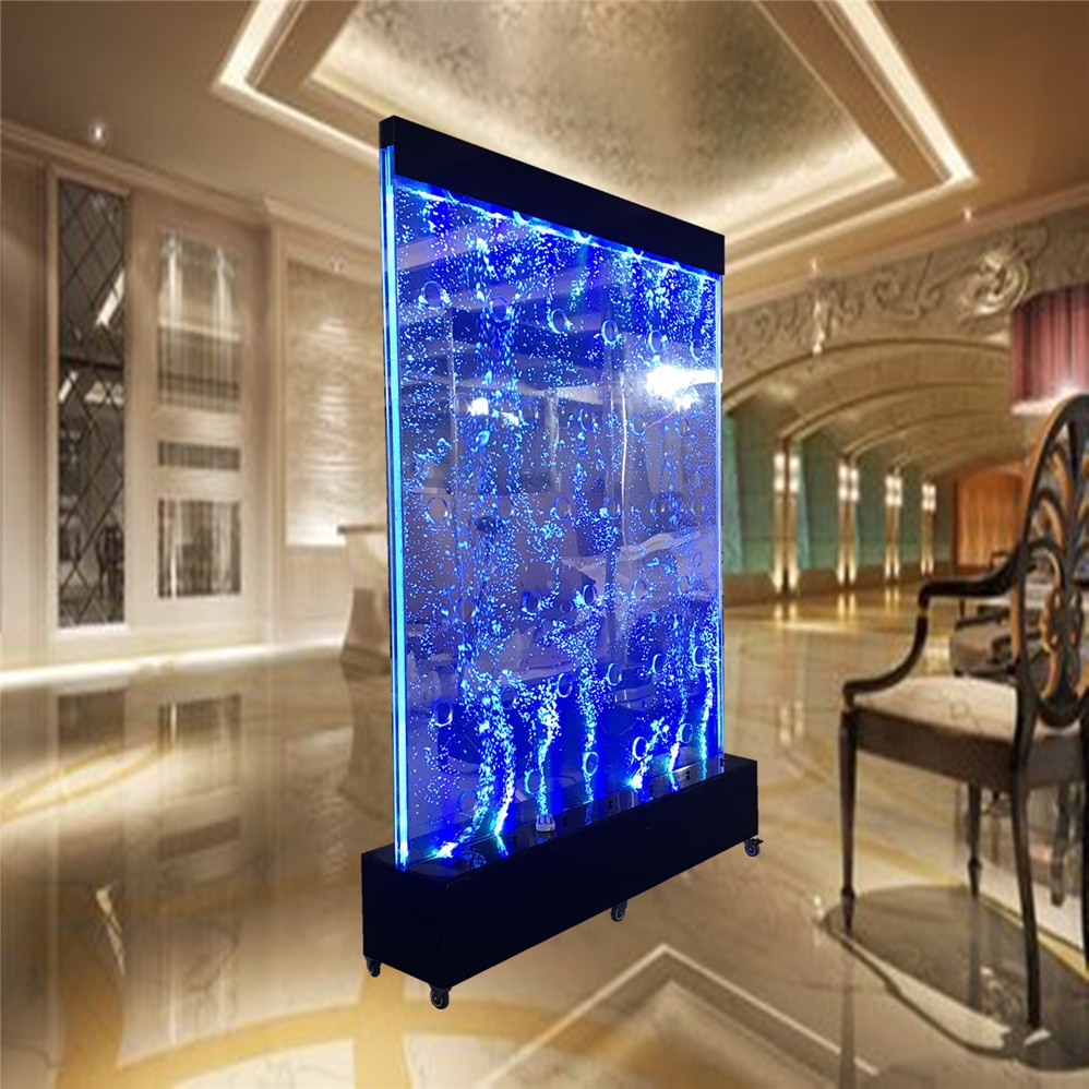 Customized led water bubble wall design partition room divider with wheels