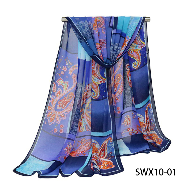 New Style Fashion Scarf Autumn Spring Paisley Print Voile Lady Scarves