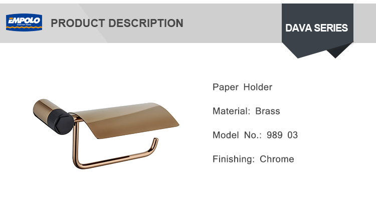 Latest Design Gold Wall Mounted Tissue Holder Roll Paper Holder Toilet Bruch And Paper Holder