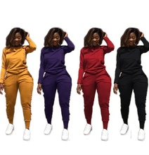 B32060A Wholesale Cheap Sweat Suits 2020 <strong>Design</strong> Women's Spandex Blend Tracksuit