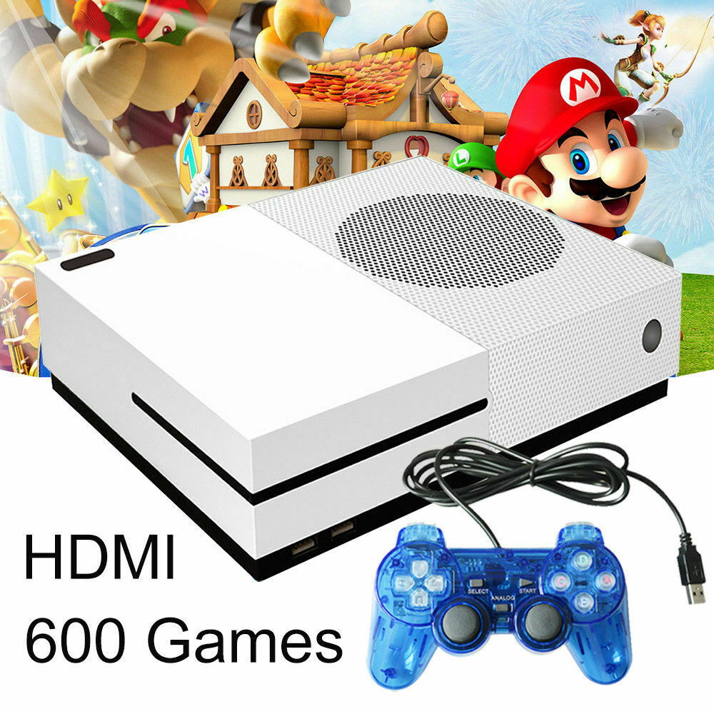 NEW Retro Home TV Video Game Console <strong>X</strong> Game 64 Bit Built-in 600 Games 2 Gamepads