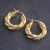 New Products Gold Plated Color French Women Earrings Ready To Ship Elegant Style Twist Hoop Earrings