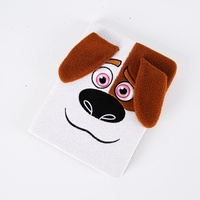Stationery set Animal dog Furry plush cover notebook