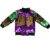 Mardi Gras wholesale posh design custom autumn girl zipper coats reversible purple gold green sequin bomber jacket for girls