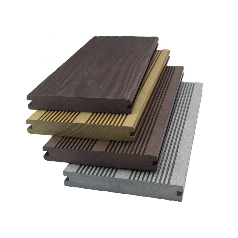 140X21mm Water Proof Building Material Solid WPC 3d Embossing Outdoor Decking With Wood <strong>Grain</strong>