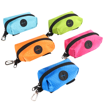 Portable fabric poo bag dispenser  Pouch Pet Pick Up Dog Poop Waste Bag Holder