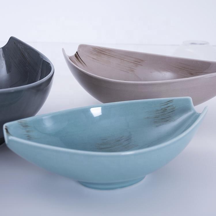 cutomized blue nordic ceramic bowls