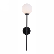 Simple LED Indoor Decoration Black Iron White Glass Ball Nordic Wall <strong>Light</strong>
