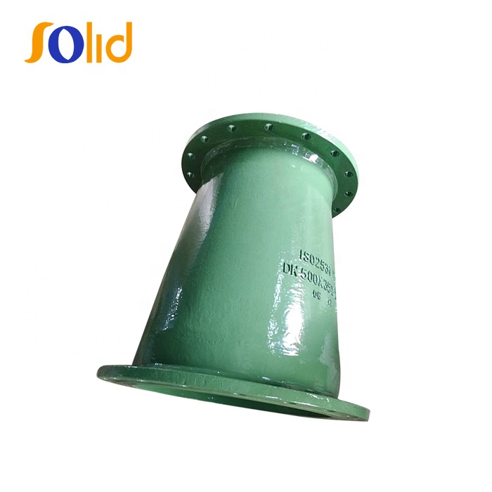 ISO2531/EN545/EN598 Ductile iron pipe fitting with epoxy Green FBE coating