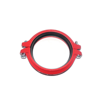 Ductile Iron Fittings Flexible Coupling FM Grooved Cast Forge Iron Rigid Coupling For Fire Protection