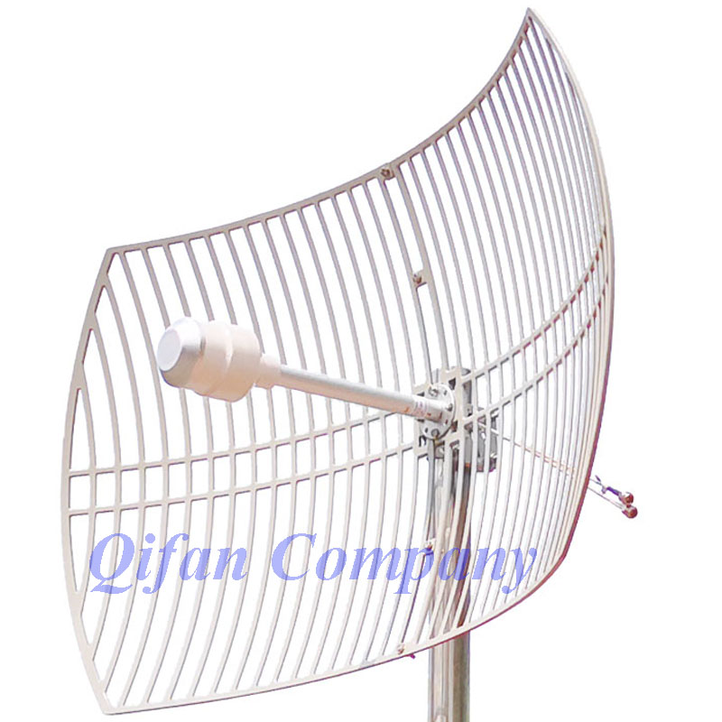 3G 4G LTE Parabolic Grid <strong>antenna</strong> 1700-2700MHz Outdoor <strong>Antenna</strong> 2X24dBi External ultra long distance <strong>Antenna</strong> with 2x N female