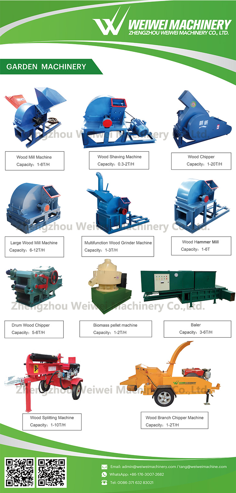 WEIWEI Best selling shredder wood chipper tree chipping machine mobile wood crusher weiwei brand