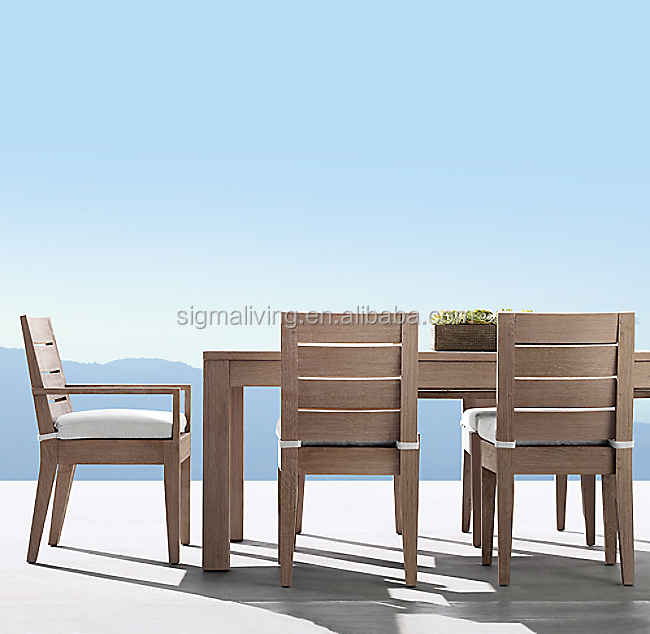 New design solid wooden furniture Myanmar teak garden set