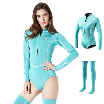 2MM Thickness SCR Neoprene Wetsuit Women 2020 Thermal Warm Diving Suit with Dive Stockings Snorkeling Swimsuit Surfing Clothes