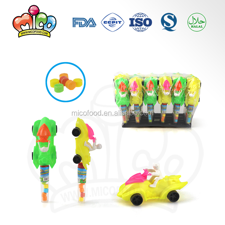 Cartoon Beach Motorcycle Car Tube Toy Candy
