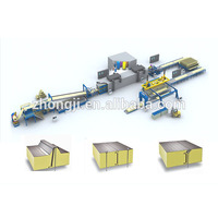 Zhongji Wall panel and Roof panel Sandwich Panel Line With CE