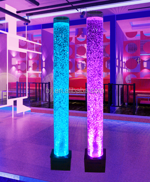 Hotel wedding banquet <strong>led</strong> bubble water acrylic tube aquarium
