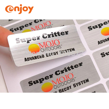 Metalized adhesive matte silver polyester label, durable stickiness and lasting long to indentify your brand