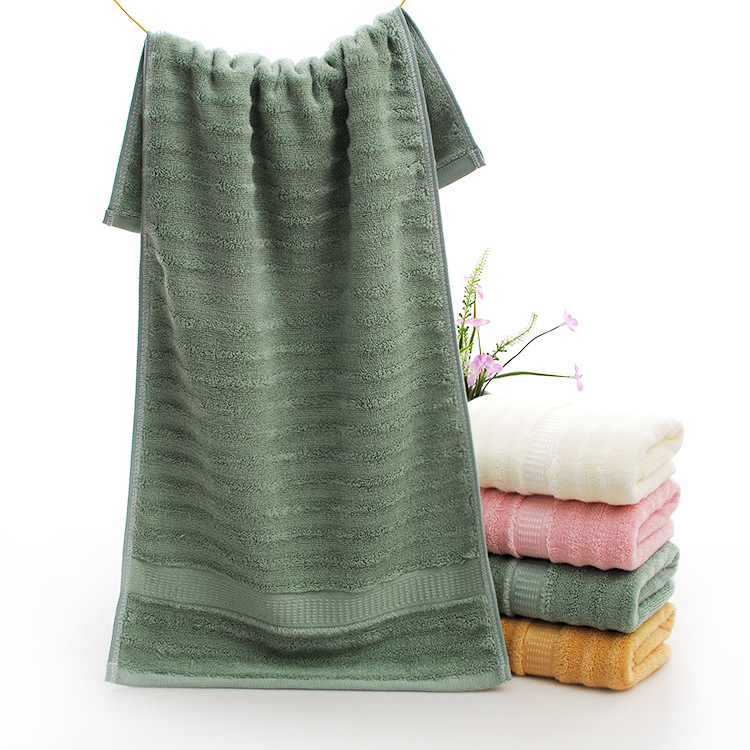 direct factory buy bamboo towel with wave design jumpping volour towel thick and soft wholesale china product bath face towel