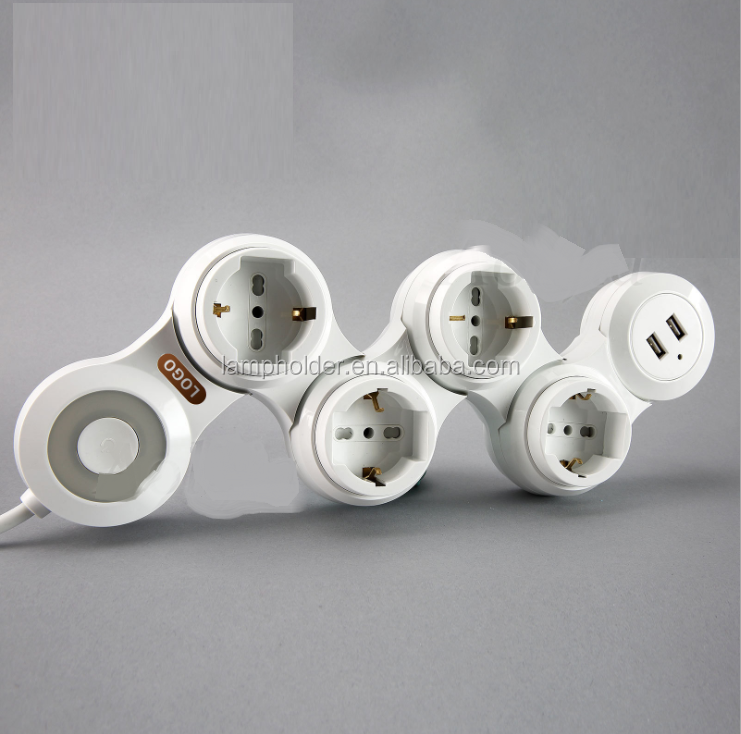 Universal Multiple Power Socket Electric Extension Socket with USB
