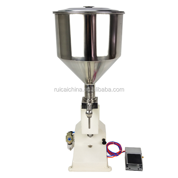 <strong>A02</strong> semi automatic small water oil beverage bottle pump liquid filling machine