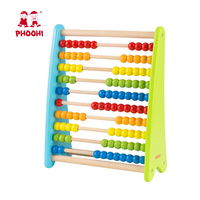 Math Manipulatives Numbers Counting Beads Wooden Children Educational Toy Abacus For Kids