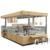 High-end  Wood Kiosk For Juice Design  Bubble Tea Beverage Coffee Showcase In Shopping Mall