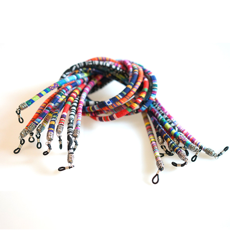 Glasses Chain Holders Ethnic Style Rope Eyewear Lanyard Retainer Cord Sunglasses Strap for Women