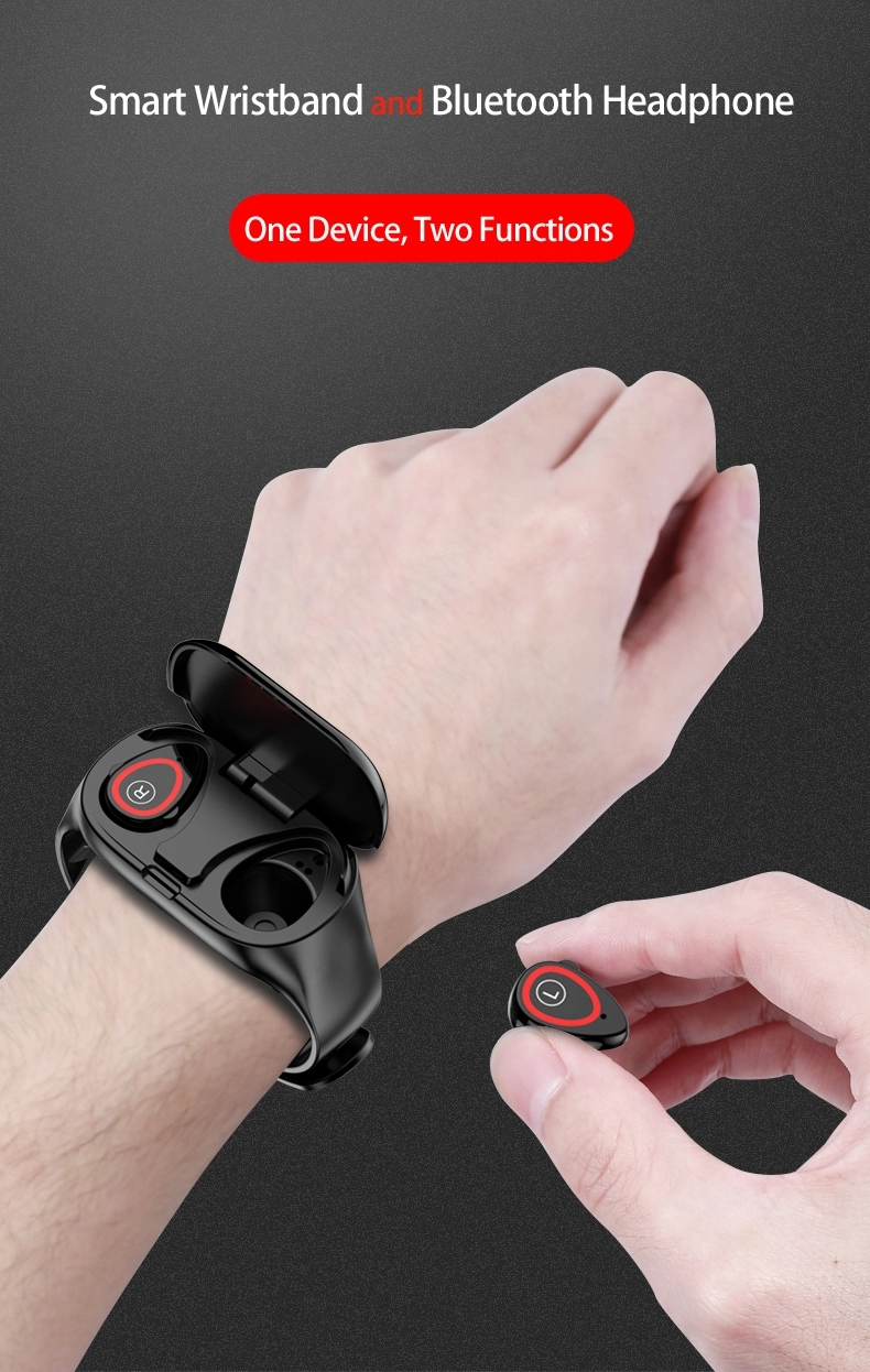 2019 Smart Watch Business Heart Rate Blood Pressure Monitor M1 earphone Smart Watch with headset