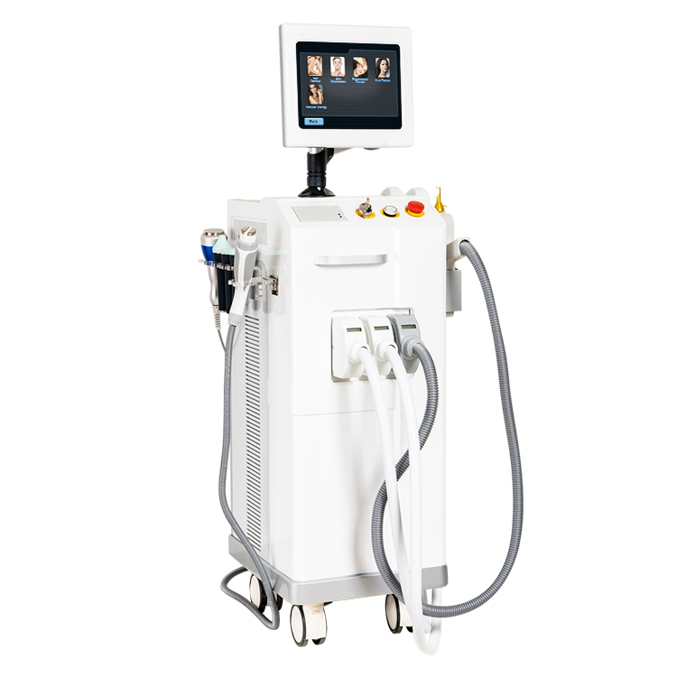 4 in 1 SHR IPL hair removal nd yag laser tattoo removal RF multifunction <strong>beauty</strong> salon equipment face lift <strong>beauty</strong> equipment