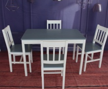 Indoor <strong>furniture</strong> 100% Solid Pine Wood Simple Cheap Dining Table and Chair