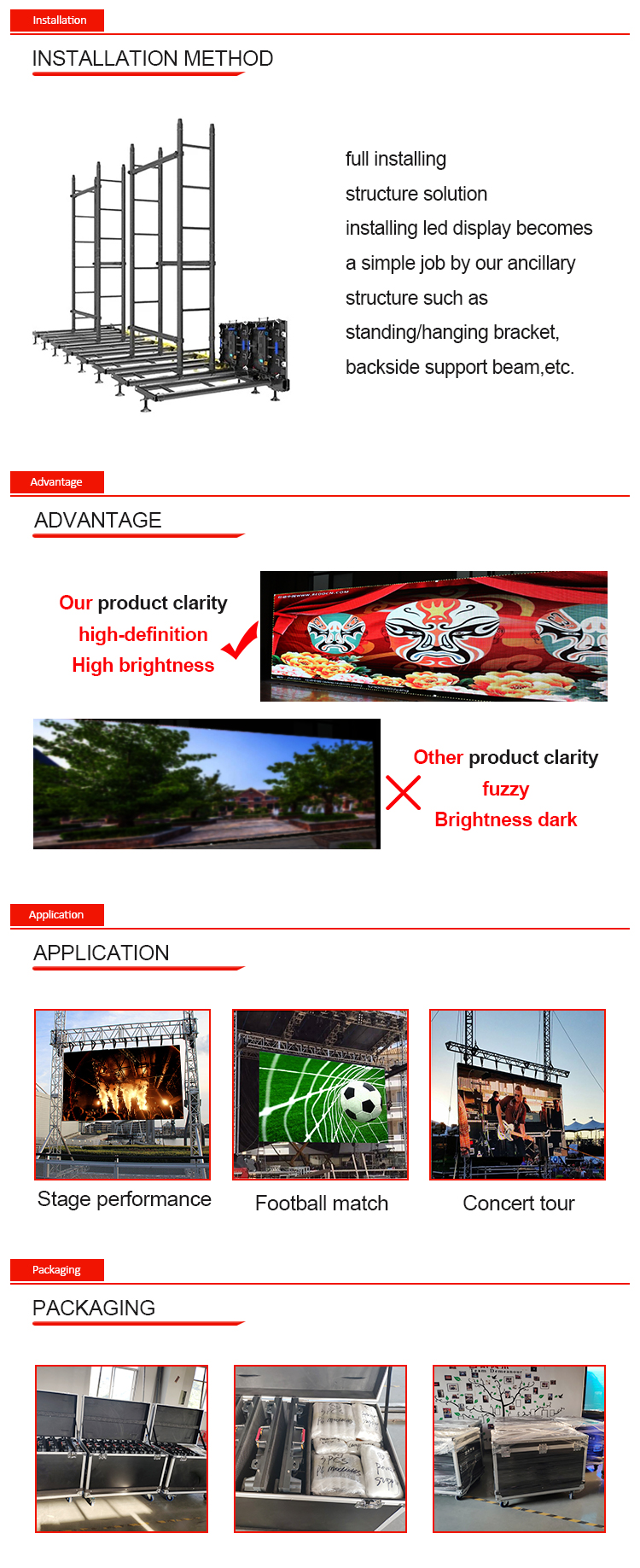 led display screen outdoor p6 outdoor panel pantalla led