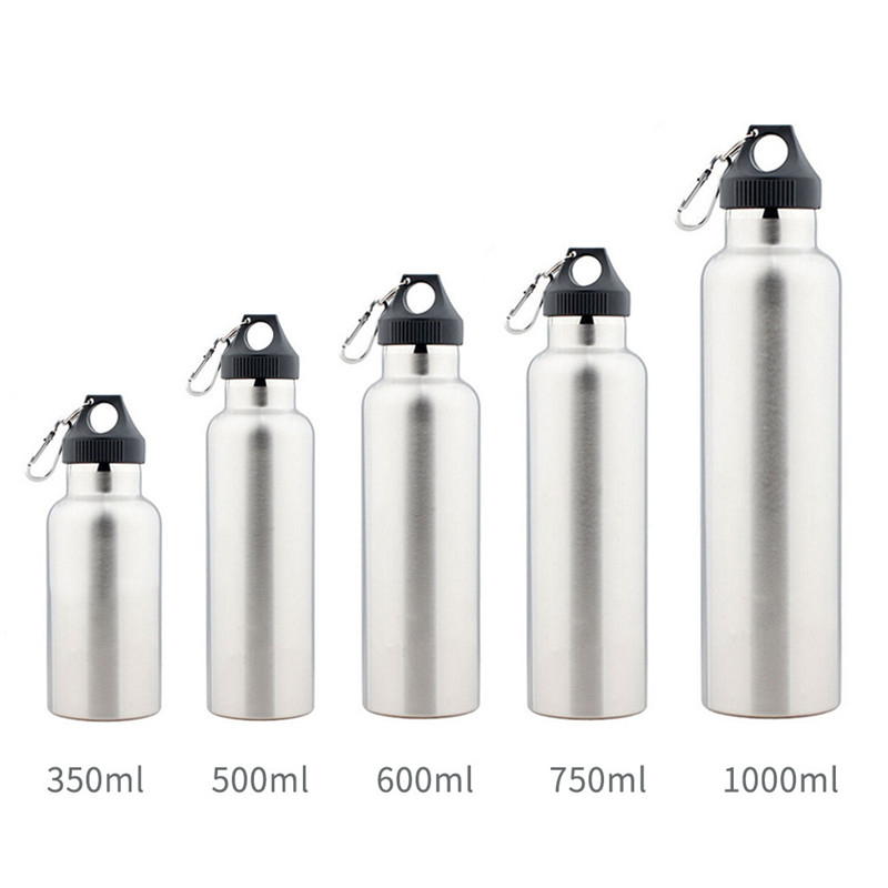 Customized Outdoor Double wall 304 Stainless steel water bottle sports bottle with Carabiner