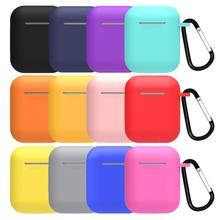 Mini Soft Silicone <strong>Case</strong> For Apple Airpods Shockproof Cover For Apple AirPods Earphone <strong>Cases</strong> Ultra Thin Air Pods Protector <strong>Case</strong>