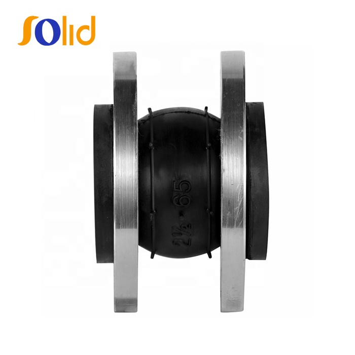 SIngle Sphere Rubber Expansion Joint with Flanged or Screwed